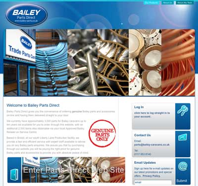 Bailey Parts Direct Website