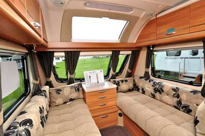 Swift caravan lounge