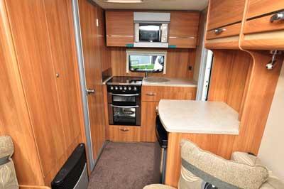Swift caravan rear view
