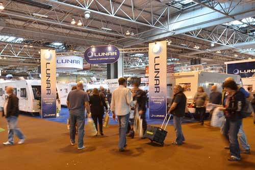 Crowds at the NEC Caravan Show